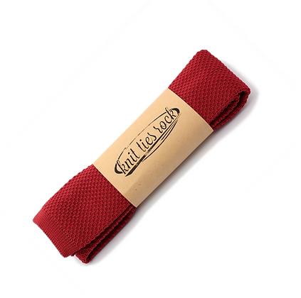 Knit Ties Rock burned red Tie