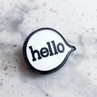Hello Bubbles Pin