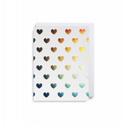 Minicards by Kelly Hyatt Multi Hearts
