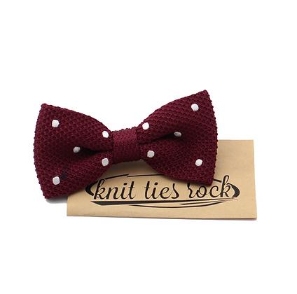Knit Ties Rock rote Polka Bow