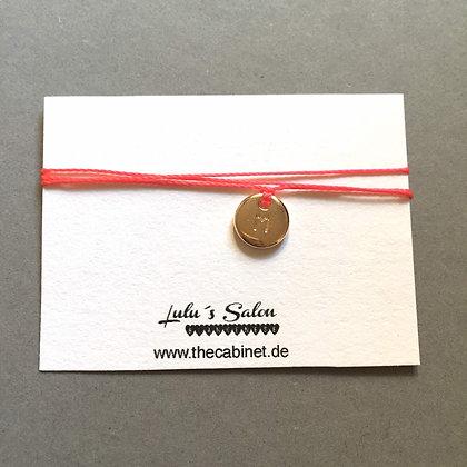 Lulu´s Salon Initial Wrap Armband M gold