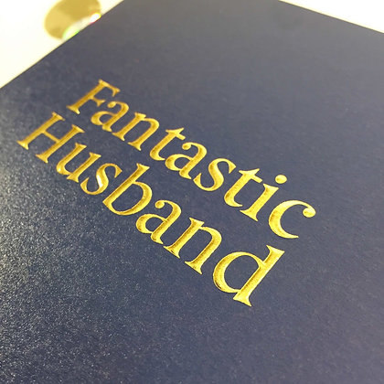 Postco Letterpress Fantastic Husband
