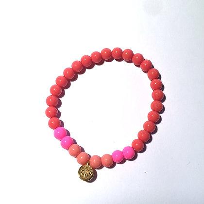 Lulu´s Salon Coral Sugar Armband