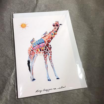 Fleur de Fleur Printkarte Sunshine Giraffa