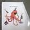 Thumbnail: Fleur de Fleur Printkarte Celebration Octopus