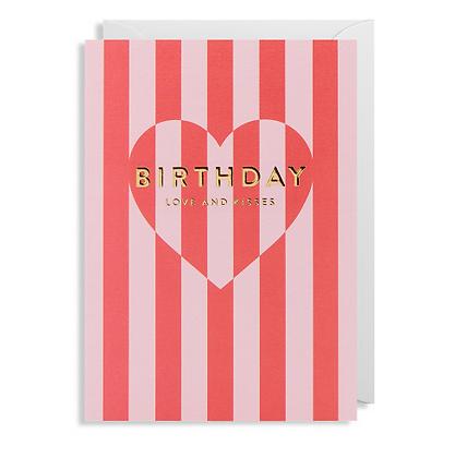 Postco Letterpress Birthday Love & Kisses