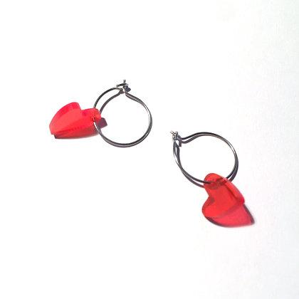 Lulu´s Salon Heart on Fire Kreolen silber