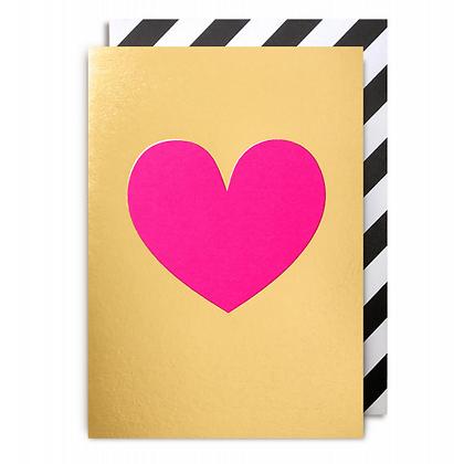Postco Letterpress Pink Heart