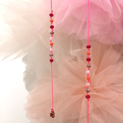 Merci Cheri Pink Beige Maskenkette by Lulu´s Salon