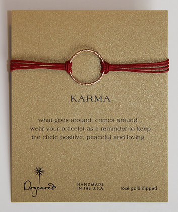 Dogeared Armband mit rosé goldenem Karma Ring
