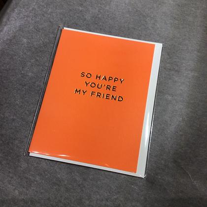 Minicards by Kelly Hyatt Happy you're my Friend