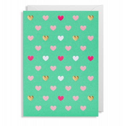 Postco Letterpress Lots of Hearts