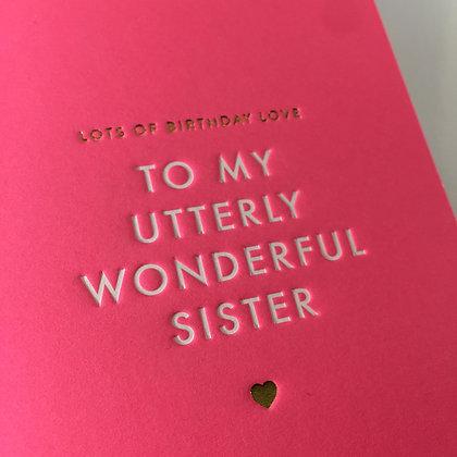 Postco Letterpress Pink Sister
