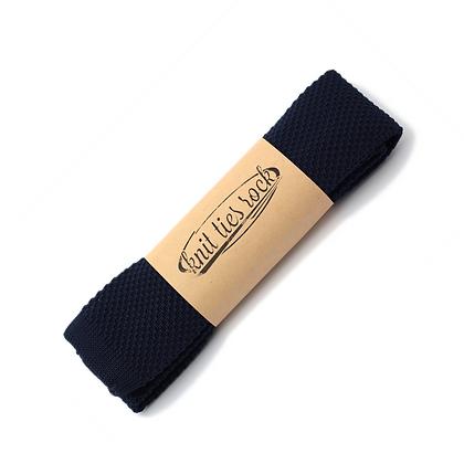 Knit Ties Rock navy blue Tie
