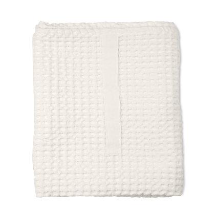 The Organic Company XL Handtuch aus Waffel Piqué natural white