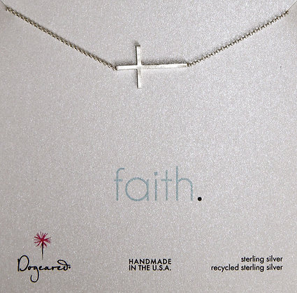 Dogeared Halskette mit Kreuz in Sterling Silber