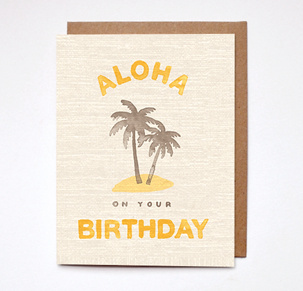 Daydream Prints Aloha Birthday Karte
