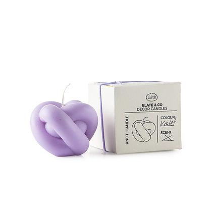 Elate & Co Mini Knoten Kerze lilac