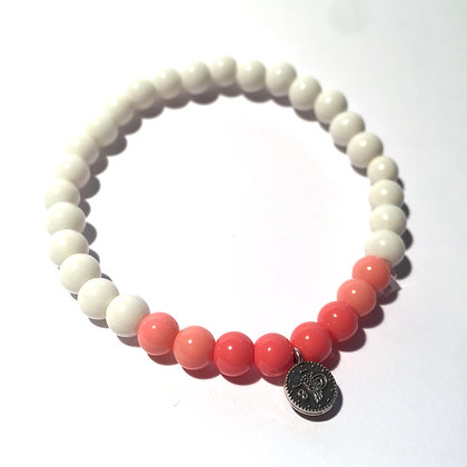 Lulu´s Salon Ombré Sugar Armband Coral