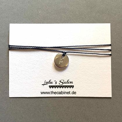 Lulu´s Salon Initial Wrap Armband P silber