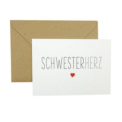 Ink Couture Schwesterherz Karte