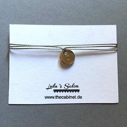 Lulu´s Salon Initial Wrap Armband C gold