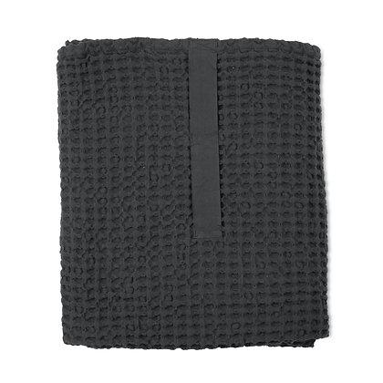 The Organic Company XL Handtuch aus Waffel Piqué dark grey