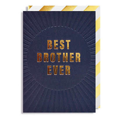 Postco Letterpress Best Brother Ever