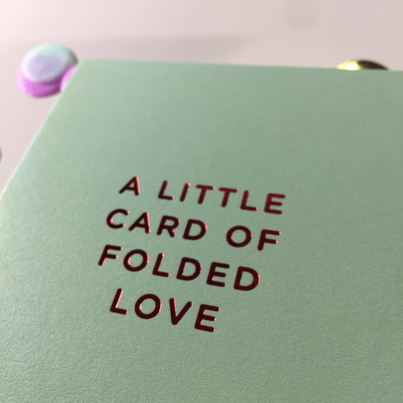 Minicards folded love close