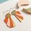 Thumbnail: Rose Bouchon Golden Orange Ohrhänger