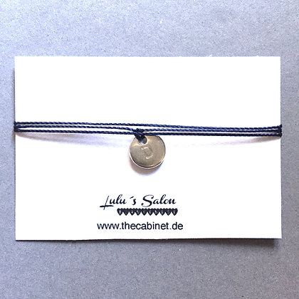 Lulu´s Salon Initial Wrap Armband D silber