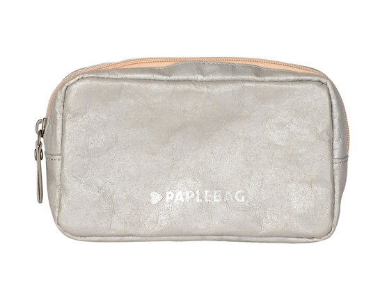 Paplebag Silver metallic Make Up Bag