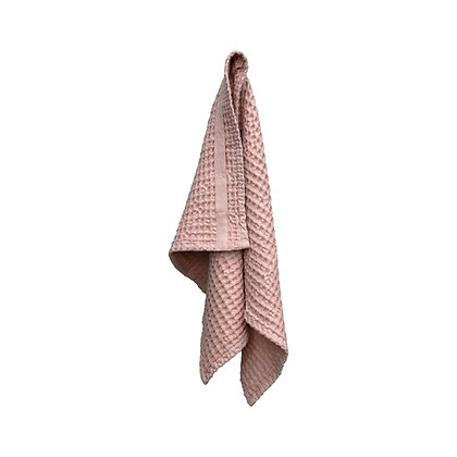 The Organic Company Handtuch aus Waffel Piqué Pale Rosé