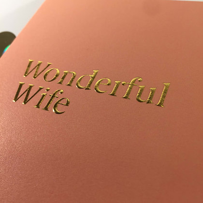 Postco Letterpress Wonderful Wife