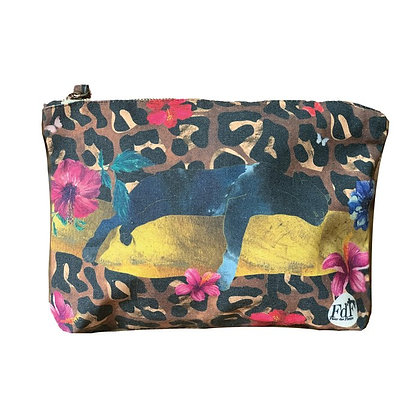 Fleur de Fleurs lounging Leopard Bag