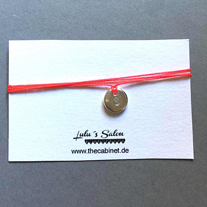 Lulu´s Salon Initial Wrap Armband S silber