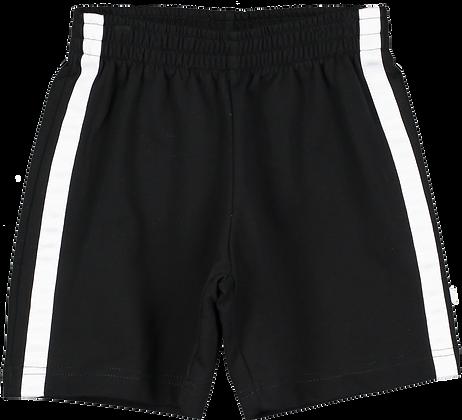 Beau Loves Black-White Stripe Shorts