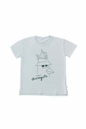 Tiny Cottons Friends Tee (Pale Grey/Ink Blue)