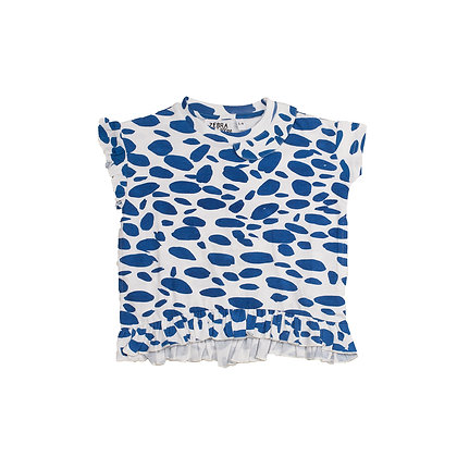 ZEBRA I CAN SEE BLUE BLUR BLOUSE