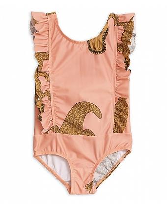 Mini Rodini Crocco Ruffled Swimsuit (Pink)