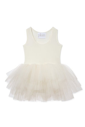 Plum B.A.E. Tutu Dress (Pearl Ivory)