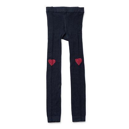 Bonton/Bonbon Heart Leggings (Navy)