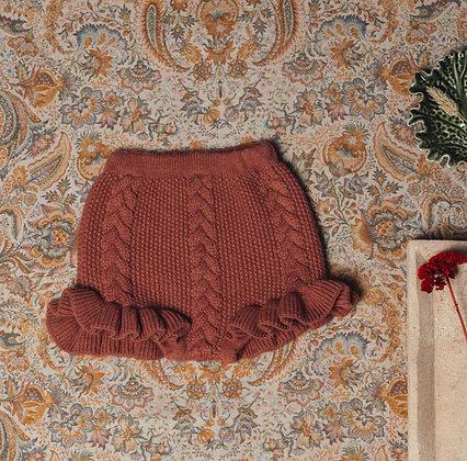 Birinit Petit Terracotta Ruffle Bloomer Short