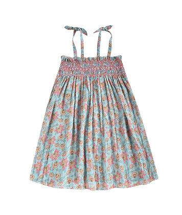 Louise Misha Marceline Dress (Turquoise Flowers)