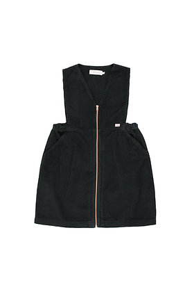 Tiny Cottons Cord V-Neck Dress (Black)