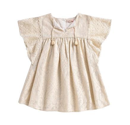 Louise Misha Teresa Dress (Cream Baroque Lace)