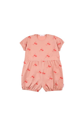 Tiny Cottons 'CANDY APPLES' Balloon Romper (Terracotta/Red)