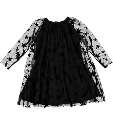 Stella McCartney Girl Stars Tulle Dress With Detachable Wings (Black)