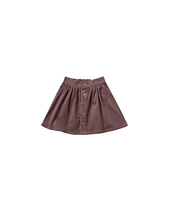 Rylee + Cru Button Front Mini Skirt (Wine)