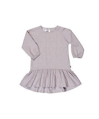 HUXBABY PLAY SWIRL DRESS (LIGHT GREY)